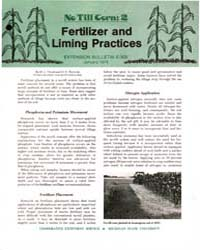 No Till Corn : 2 Fertilizer and Liming P... by M. L. Vitosh