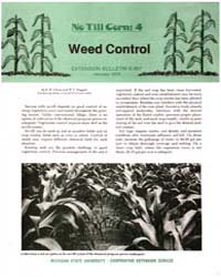No Till Corn : 4 Weed Control, Document ... by R. W. Chase
