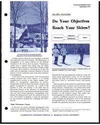 Do Your . Objectives Reach Y Our Skiers?... by Francis M. Domoy