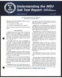 Understanding the Msu Soil Test Report, ... by D. D. Warncke