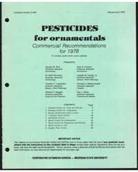Pesticides for Ornamentals, Document E94... by George W. Bird