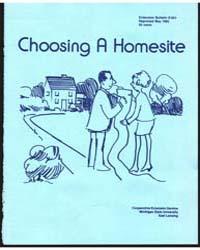 Choosing a Homesite, Document E951Print2 by Michigan State University