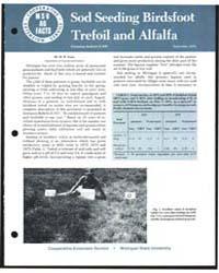 Sod Seeding Birdsfoot Trefoil and Alfalf... by M. B. Tesar