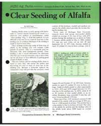 Clear Seeding of Alfalfa, Document E961R... by M. B. Tesar