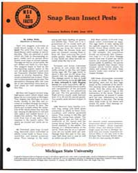 Snap Bean Insect Pests, Document E966Pri... by Wells, Arthur