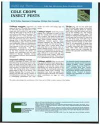 Cole Crops Insect Pests, Document E968Re... by Ed Grafius