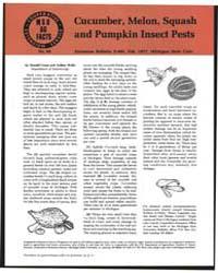 Cucumber, Melon, Squash and Pumpkin Inse... by Donald Cress