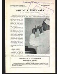 Why Milk Tests Vary, Document E96Rev1Pri... by G. M. Trout