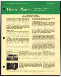 House Plants, Common Insects and Disease... by F. Laemmlen