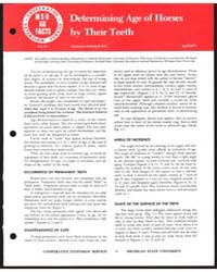 Determining Age of Horses by Their Teeth... by Michigan State University