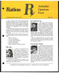 Ration R. Attitudes Opinions Facts, Docu... by Michigan State University