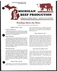 Michigan Beef Production, Document E987P... by Harlan D. Richie