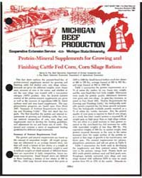 Michigan Beef Production, Document E988P... by Danny G. Fox