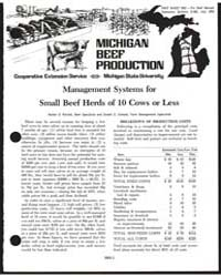 Michigan Beef Production, Document E990 by Harlan D. Richie
