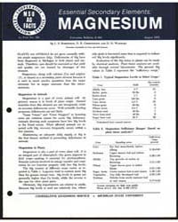 Essential Secondary Elements, Magnesium,... by L. S. Robertson
