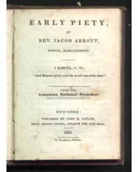 Early Piety, Document Earlypiety by Rev. Jacob Abbott