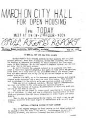 March on City Hall for Open Housing, Doc... by Michigan State University