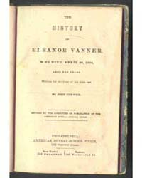 The History of Eleanor Vanner, Document ... by John Curwen