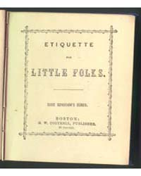 Etiquette for Little Folks, Document Eti... by Michigan State University