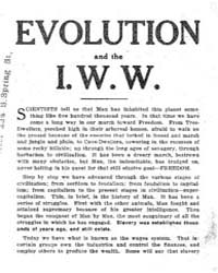 Evolumeution and the I. W. W,, Document ... by Michigan State University