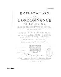 Explication De L'Ordonnance, Document Ex... by Louis Xv. Roy