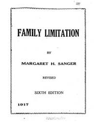 Family Limitation, Document Familylimita... by Margaret H. Sanger