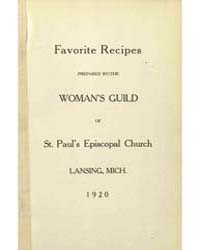 Favorite Recipes Prepared by the Women G... by St Paul's Episcopal Church