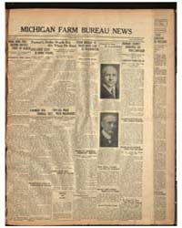 Michigan Farm Bureau News, Volume I, Num... by Michigan State University