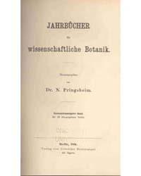 Jahrbücher Für Wissenschaftliche Botanik... by Michigan State University