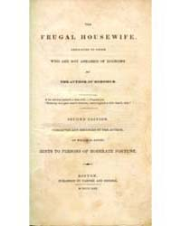The Frugal Housewife, Document Frch by Michigan State University