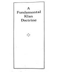 A Fundamental Klan Doctrine, Document Fu... by Michigan State University