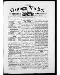 The Grange Visitor, Volume I, Document G... by Michigan State University