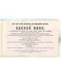 The Sacred Harp, Document Harp by White, B. F.