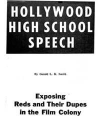 Hollywood High School Speech, Document H... by Gerald L. K. Smith