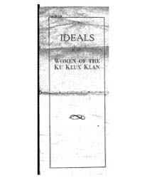 Ideals of the Women of the Ku Klux Klan,... by Michigan State University