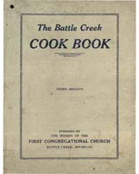 The Battle Creek Cook Book, Document Ja1... by Michigan State University