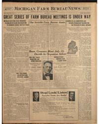 Michigan Farm Bureau News, Volume Iii, J... by Michigan State University
