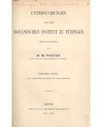Untersuchungen Aus Dem Botanischen Insti... by W. Pfeffer