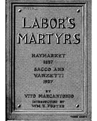 Labor's Martyrs, Document Laborsmartyrs by William Z. Foster