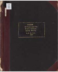 Thesis Study of Trees Upon the M. A. C. ... by C. A. McCue