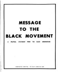 Message to the Black Movement, Document ... by Michigan State University