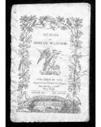 Memoir of Miriam Warner, Document Miriam... by Michigan State University