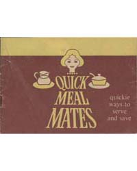 Quick Meal Mates, Quickie Ways to Serve ... by Michigan State University