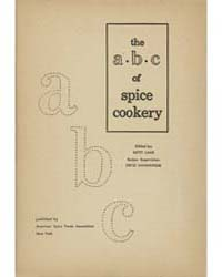 The a B C of Spice Cookery, Document Msu... by Betty Lane