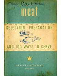 Meat Selection Preparation and 100 Ways ... by Michigan State University
