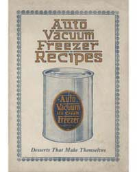 Recipes for Auto Vacuum Ice Cream Freeze... by Michigan State University
