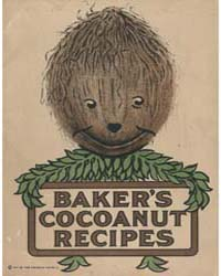 Baker's Cocoanut Recipes, Document Msusp... by Michigan State University