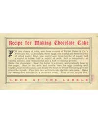 Recipe for Making Chocolate Cake, Docume... by Michigan State University