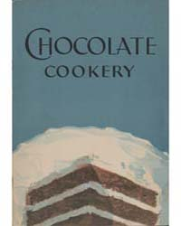 Chocolate Cookery, Document Msuspcsbs Ba... by Michigan State University