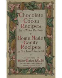 Chocolate and Cocoa Recipes, 1911, Docum... by Miss Parloa